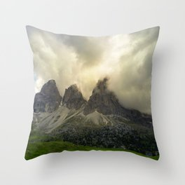 Dolomiti from Sella Pass Throw Pillow