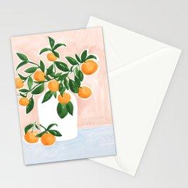 Orange Tree Branch in a Vase Stationery Cards