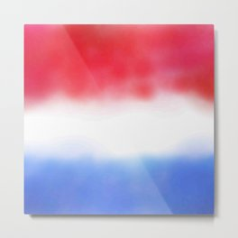 Flag of Netherlands 3 - with cloudy colors Metal Print