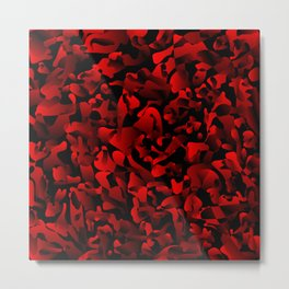 Explosive bright on color from spots and splashes of red paints. Metal Print