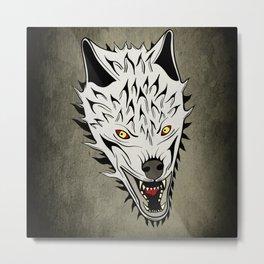 Angry Wolf Metal Print