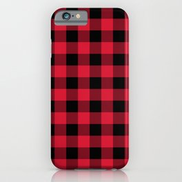 Buffalo Plaid Red Black Lumberjack Pattern iPhone Case
