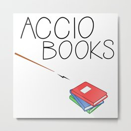 ACCIO BOOKS Metal Print