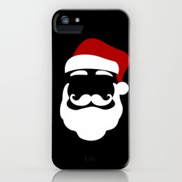 Hipster Santa Claus With Sunglasses Funny Gift for Christmas iPhone Case