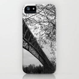 Eiffel. The mystery train bridge. BW iPhone Case