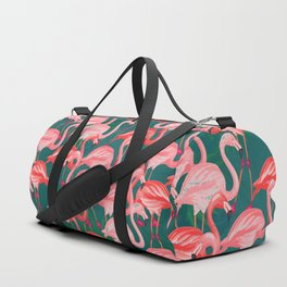 flamingo tropical Duffle Bag