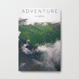 Adventure Is Waiting Metal Print