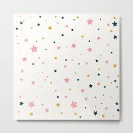 Minimalist stars Pattern  Metal Print
