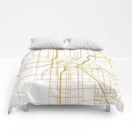 MINNEAPOLIS MINNESOTA CITY STREET MAP ART Comforters