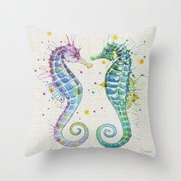 Guardians of the Sea - Natural Throw Pillow