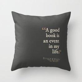 A Good Book... Throw Pillow