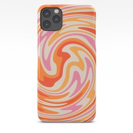 70s Retro Swirl Color Abstract iPhone Case