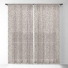 BLACK and WHITE LEOPARD PRINT – Ecru   Collection : Leopard spots – Punk Rock Animal Prints. Sheer Curtain