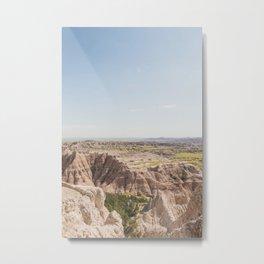 Blue Sky Over Badlands Metal Print