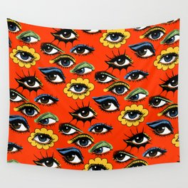 60s Eye Pattern Wall Tapestry