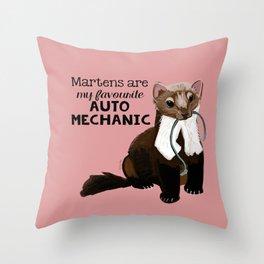 My favourite Auto mechanic Throw Pillow