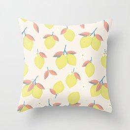 Lemons pattern Throw Pillow