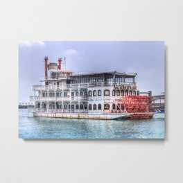 New Orleans Paddle Steamer Metal Print