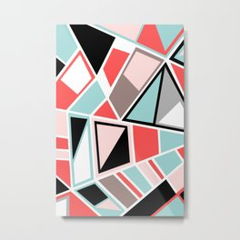 Abstract #534 Facets Metal Print