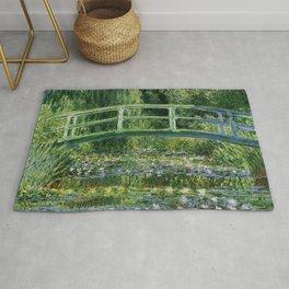 Water Lilies and Japanese Footbridge, Claude Monet Rug