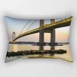 Sunset at the Verrazzano-Narrows Bridge Rectangular Pillow