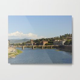 Arno River, Florence Italy Metal Print