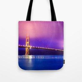 Awesome Golden Gate Suspension Bridge Clouds San Francisco California Color Saturation Ultra HD Tote Bag