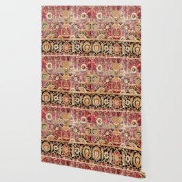 Esfahan Central Persian 17th Century Fragment Print Wallpaper