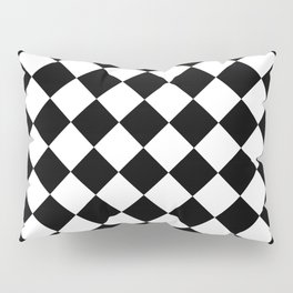 Rhombus (Black & White Pattern) Pillow Sham