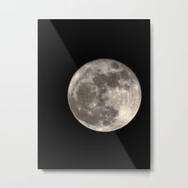 Can you see the man in the Moon smiling at us? Metal Print