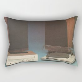 Vintage 1970's HiFi 2 Rectangular Pillow