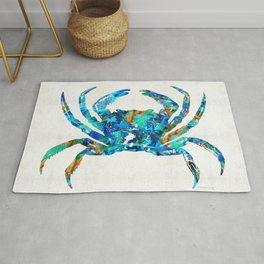 Blue Crab Art by Sharon Cummings Rug