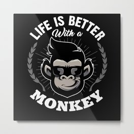 Monkey Animal Metal Print