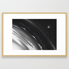 Planets lost in the vast of Space: 06 Framed Art Print