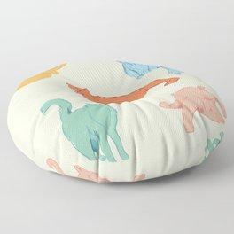 Cattitude - Cat illustration print Floor Pillow