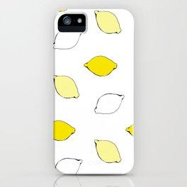 Giant Lemon Pattern iPhone Case