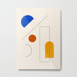Minimal Geometric Shapes 65 Metal Print