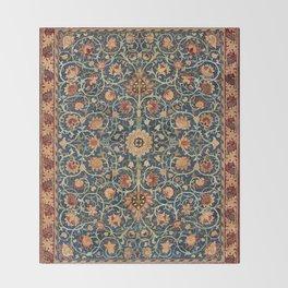 William Morris Floral Carpet Print Throw Blanket
