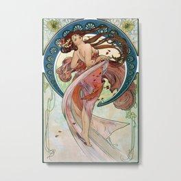 Alfons mucha The Arts Dance Metal Print