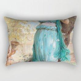 Sweet Apple - Hans Zatzka Rectangular Pillow