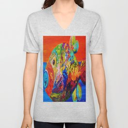 Deviously Dappled Unisex V-Neck