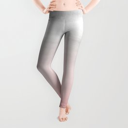 Touching Blush Gray Watercolor Abstract #1 #painting #decor #art #society6 Leggings