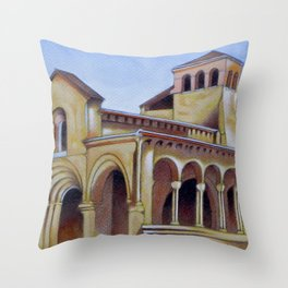 Postcard from Iglesia de la Trinidad, Segovia, Spain Throw Pillow
