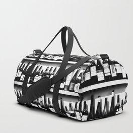 Wine Bottles in Black And White #decor #society6 #buyart Duffle Bag