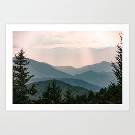 Smoky Mountain Pastel Sunset Kunstdrucke