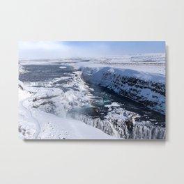 The Rising Frozen Rainbow Metal Print