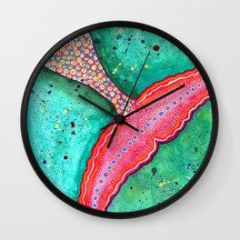 Watercolor Mermaid Tail Wall Clock