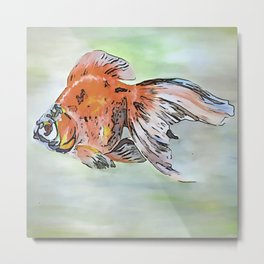 Cartoon Style Ryukin Goldfish Metal Print