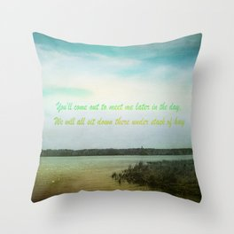 Summer Poem Throw Pillow
