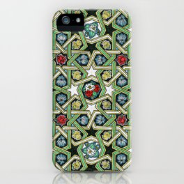 8-fold Rosettes with Flowers iPhone Case
